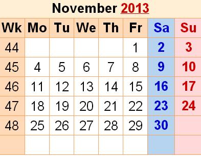 calendar-november-2013