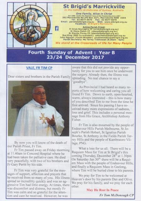 Vale Fr. Tim CP