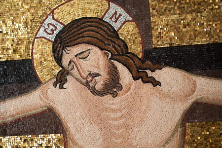 crucifixion-christ-face-and-arms-mosaic-byzantine
